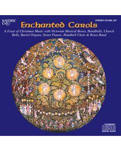 Enchanted Carols. Musical boxes, handbells, church bells, brass band, handbell choir, barrel organs