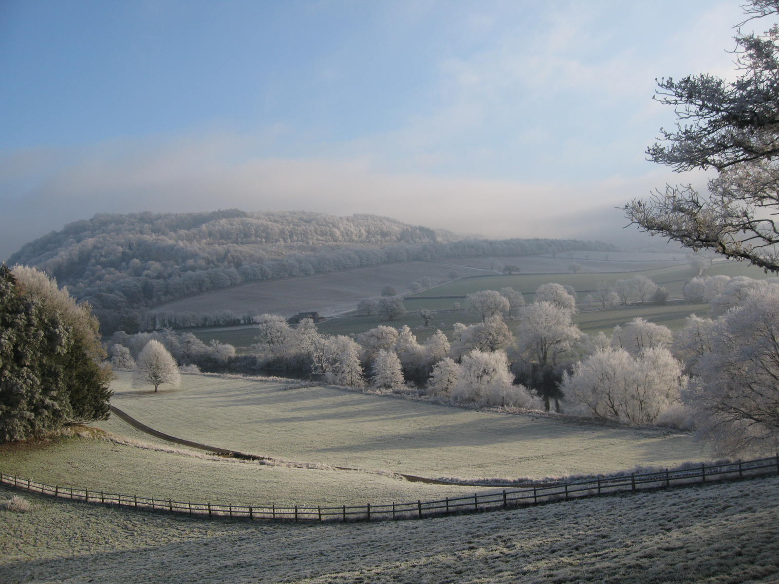 Frosty valley